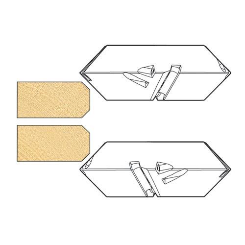 Trend It 7335101 Fold Joint Rebate 160x56x2tx30mm Bore 30mm